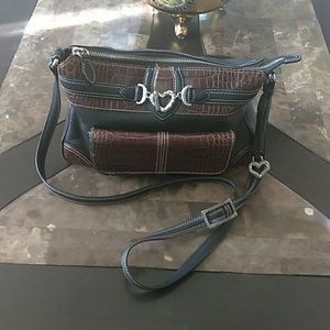 Brighton Leather Two Sided Bag